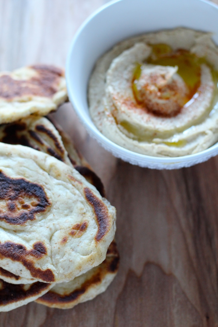 naan bread and hummus