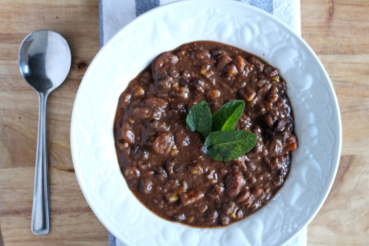 Black Bean & Sweet Potato Soup