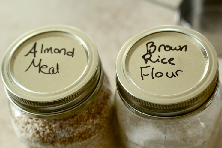 almond meal & brown rice flour