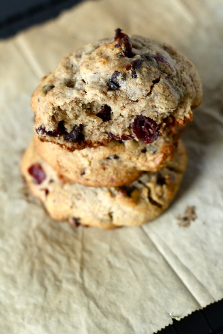 chocolate cranberry cookie stack {paleo}