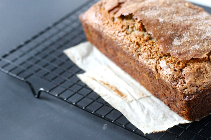 banana maple olive oil loaf by cheeky baker