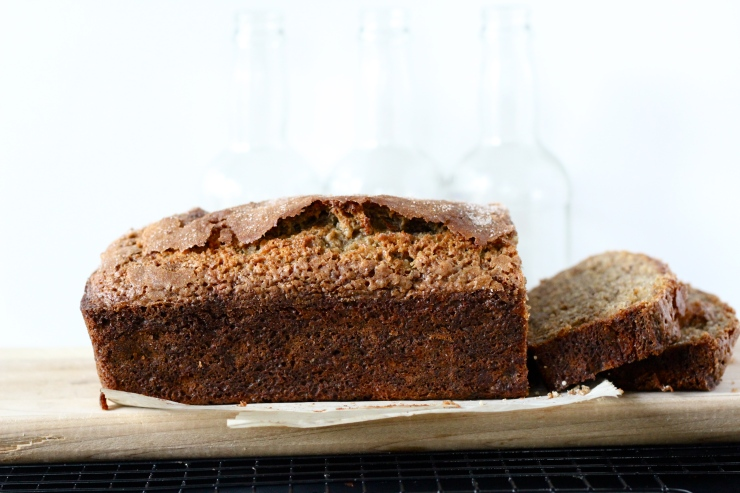 banana maple olive oil bread by cheeky baker