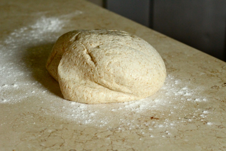 whole wheat bread dough by cheeky baker