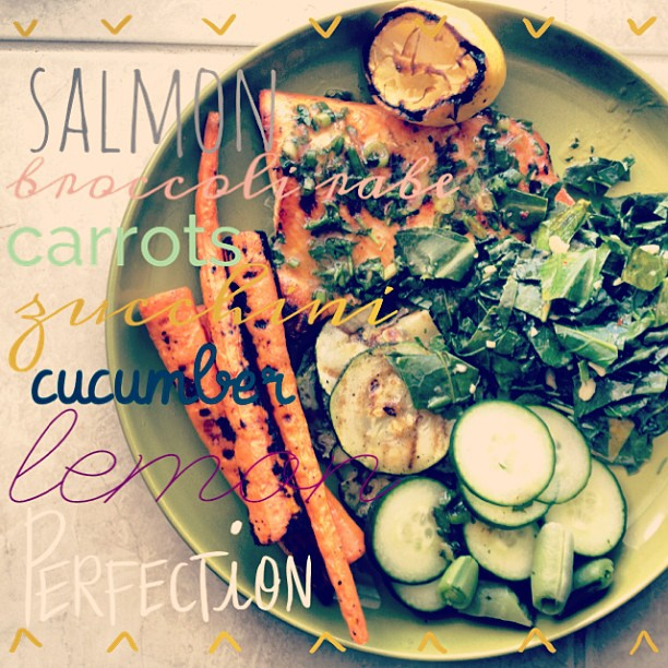 Salmon & Veggies {21dsd} by cheeky baker