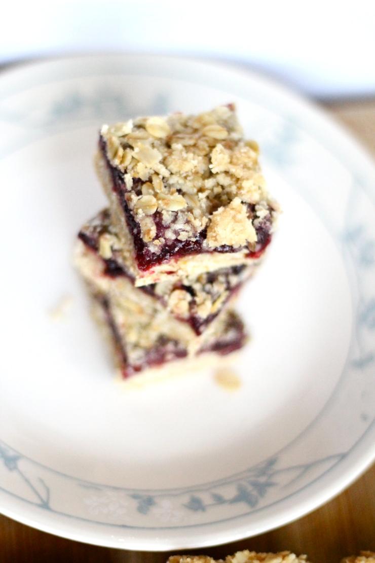 Raspberry, Blueberry, Cranberry Oat Bars
