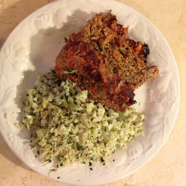 Mexican Meat Loaf & Cilantro  Cauli-Rice {21 dsd} by cheeky baker