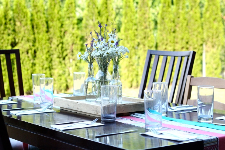 family dinner table setting {{by cheeky baker}