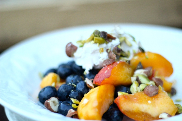 Peaches, Blueberries, & Coconut Cream {by cheeky baker}
